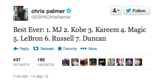 Chris Palmer's top 7 NBA players ever